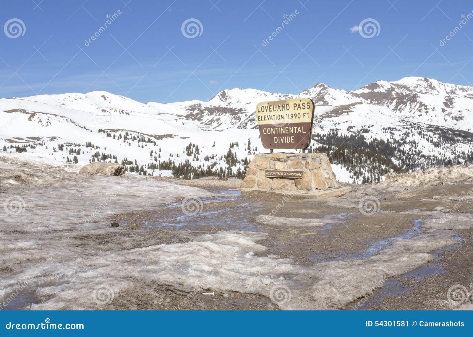 Spartiacque continentale, passaggio di Loveland, Colorado