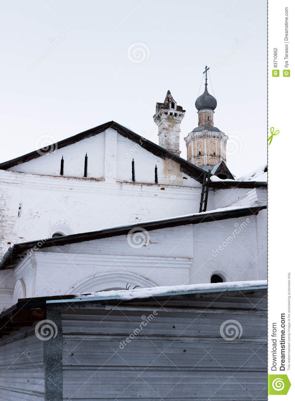 Spaso-Priluckiy Monastery In Winter. Vologda. Stock Photo