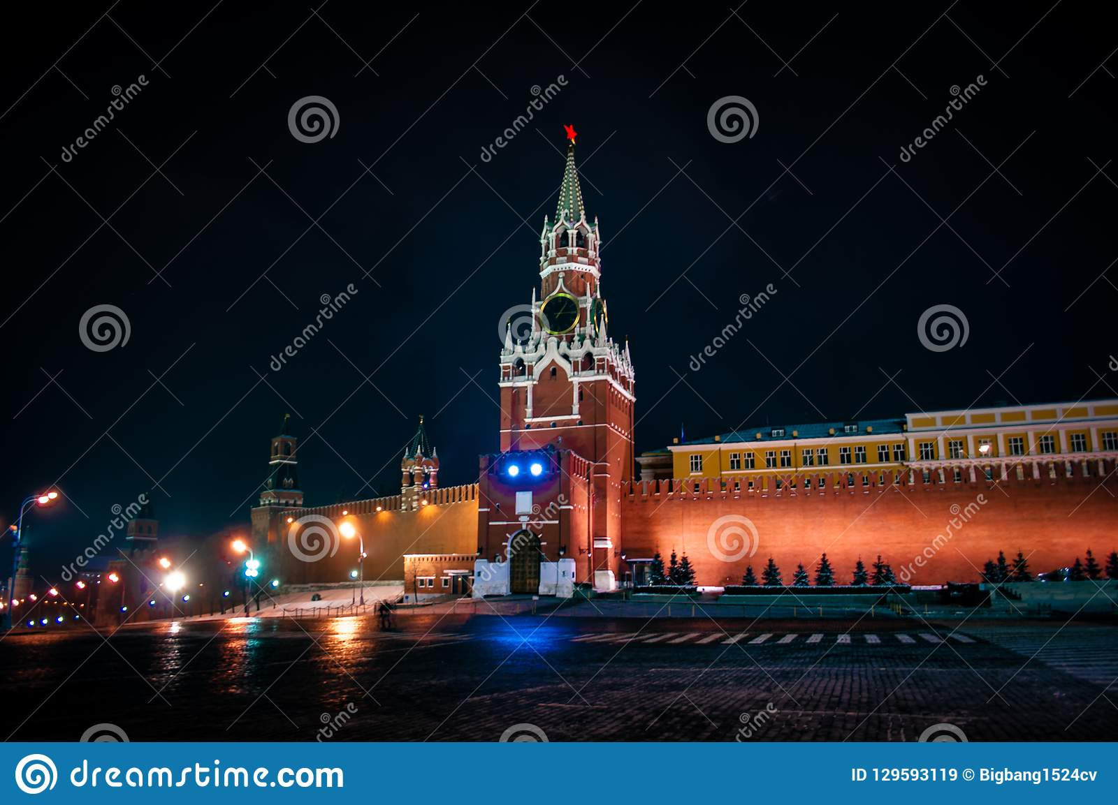 Spasskaya torn av MoskvaKreml