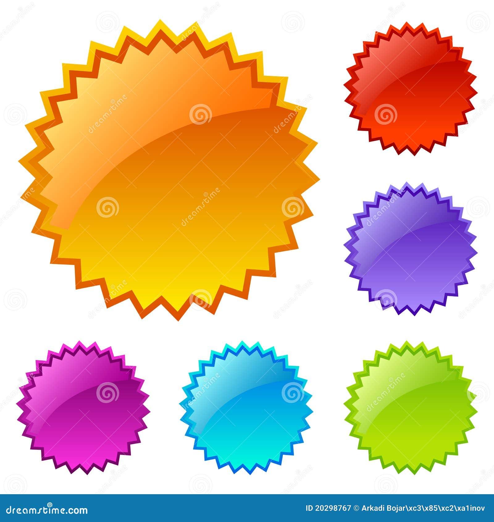 Spatie gekleurde Webpictogrammen