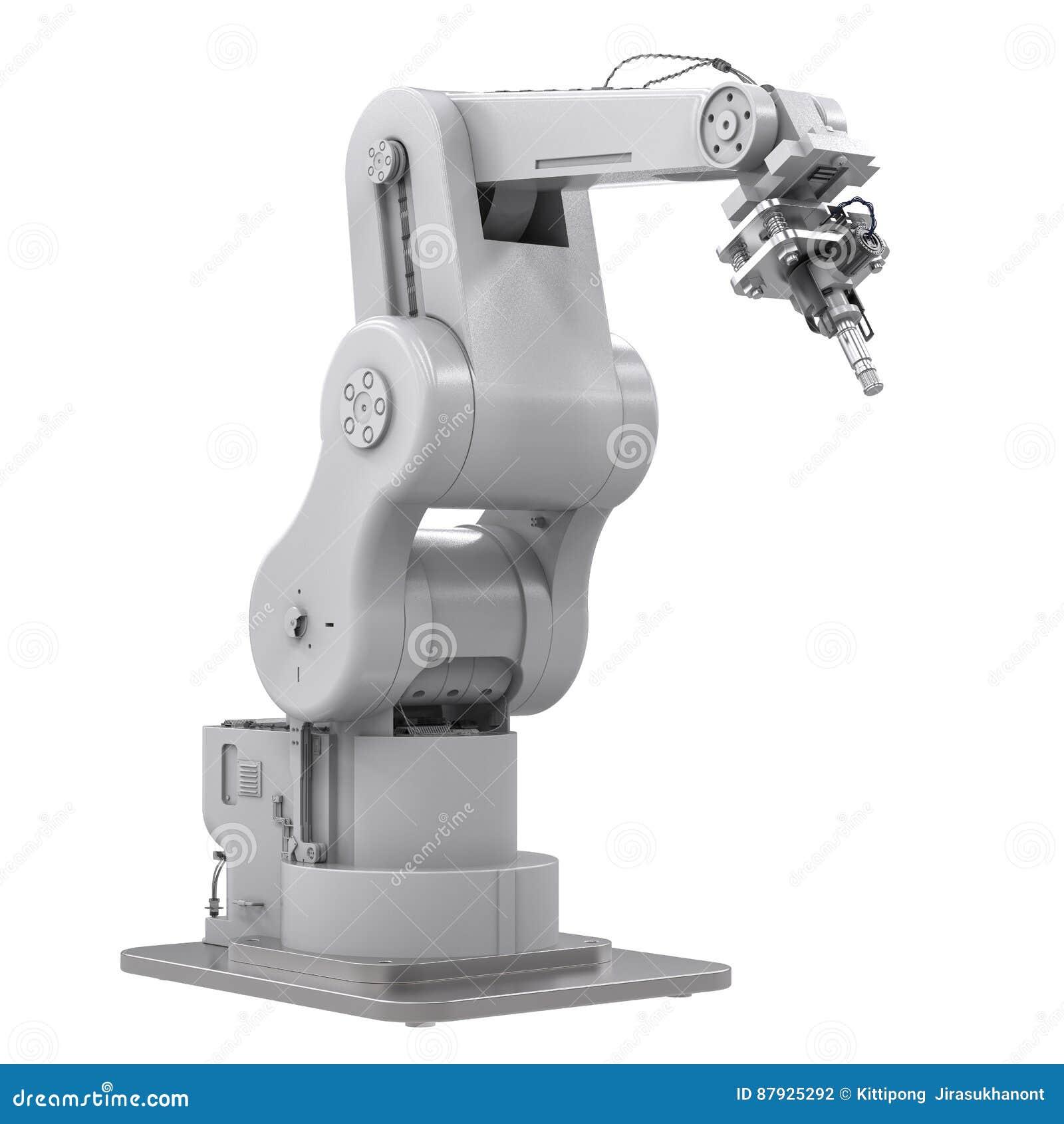 Spawalnicza mechaniczna ręka odizolowywająca na bielu