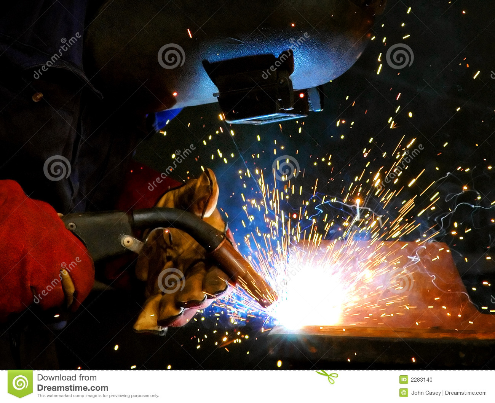 Spawanie sparks stali