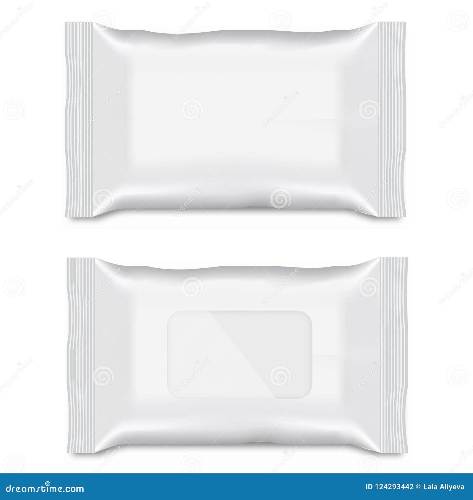 Spazio in bianco dell imballaggio bagnato di flusso della strofinata per la vostra progettazione Vettore