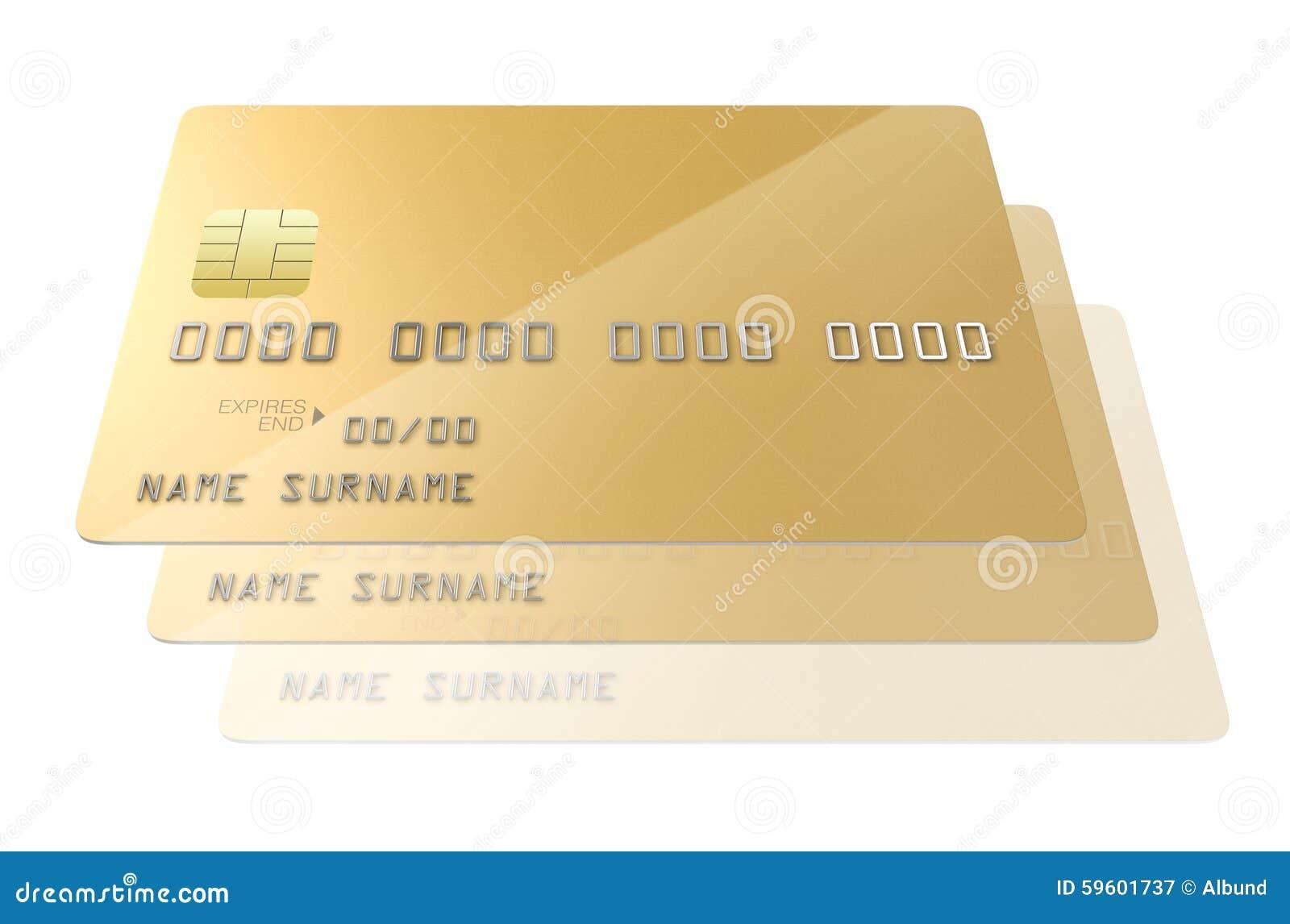 Spazio in bianco della carta di credito