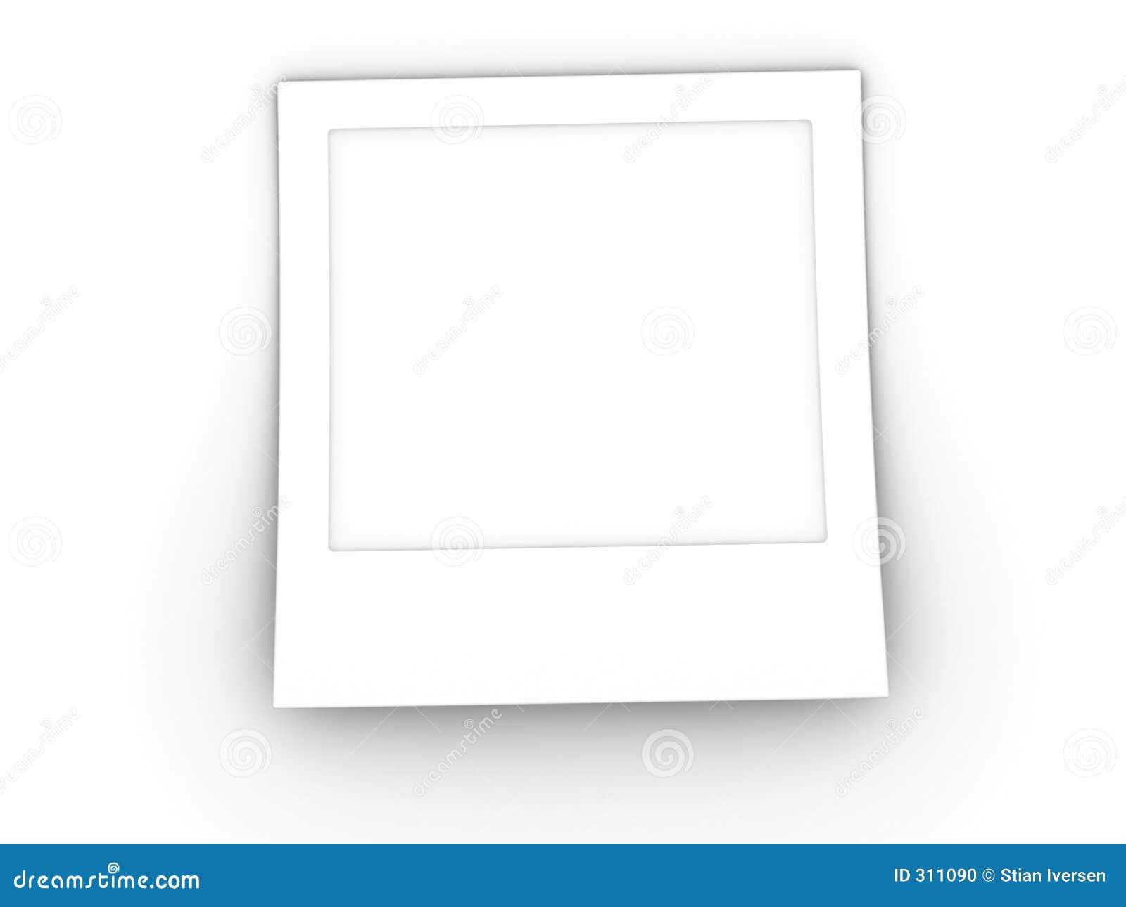 Spazio in bianco della foto 3d