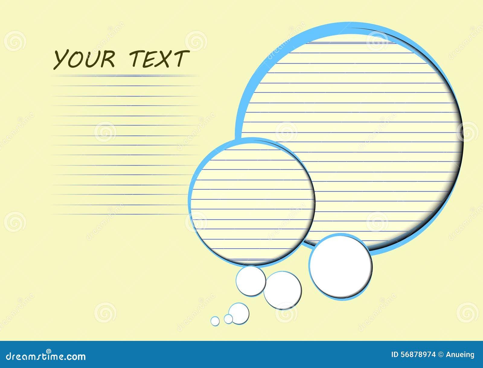 Spazio del cerchio e della carta di carta per testo