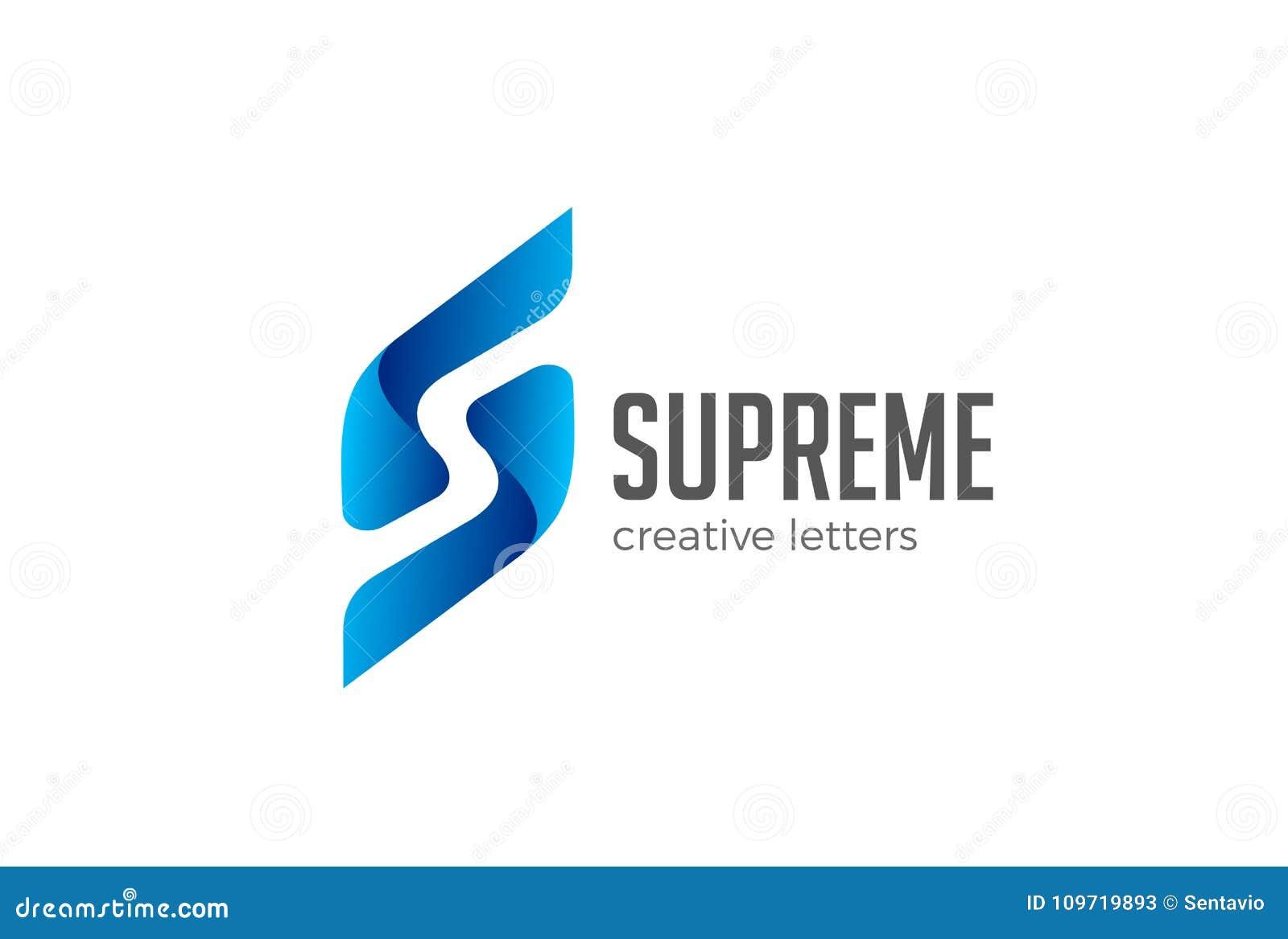 Spazio della negazione di vettore di logo della lettera S Emb corporativo