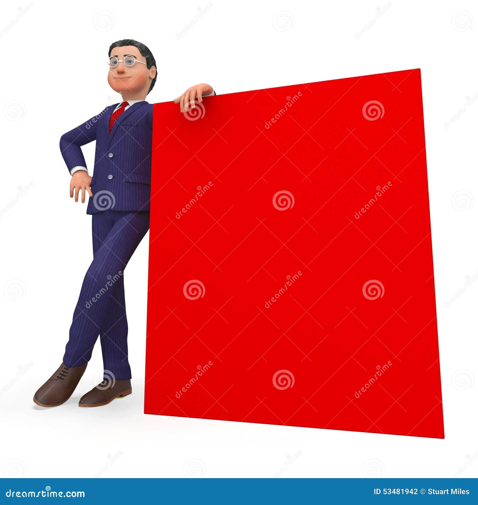 Spazio di Beside Signboard Shows dell uomo d affari e commerci