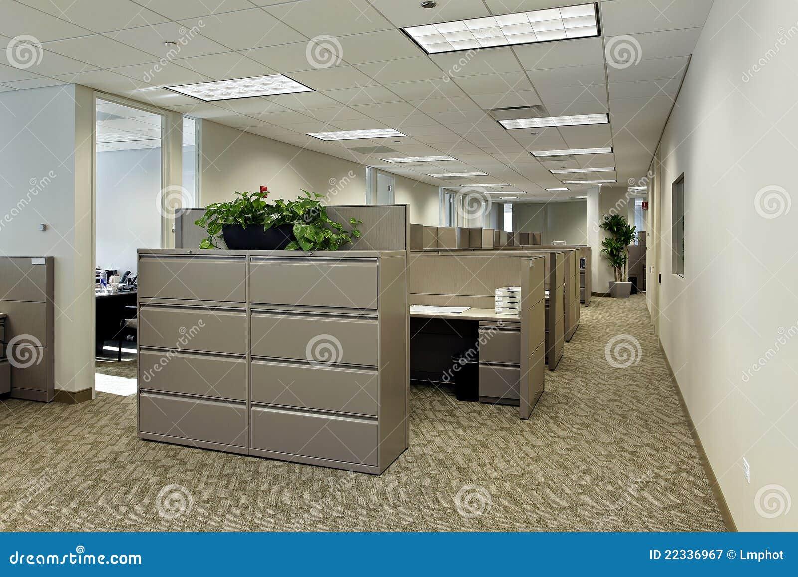 Spazio di ufficio con i cubicoli immagine stock immagine for Mobilia spazio