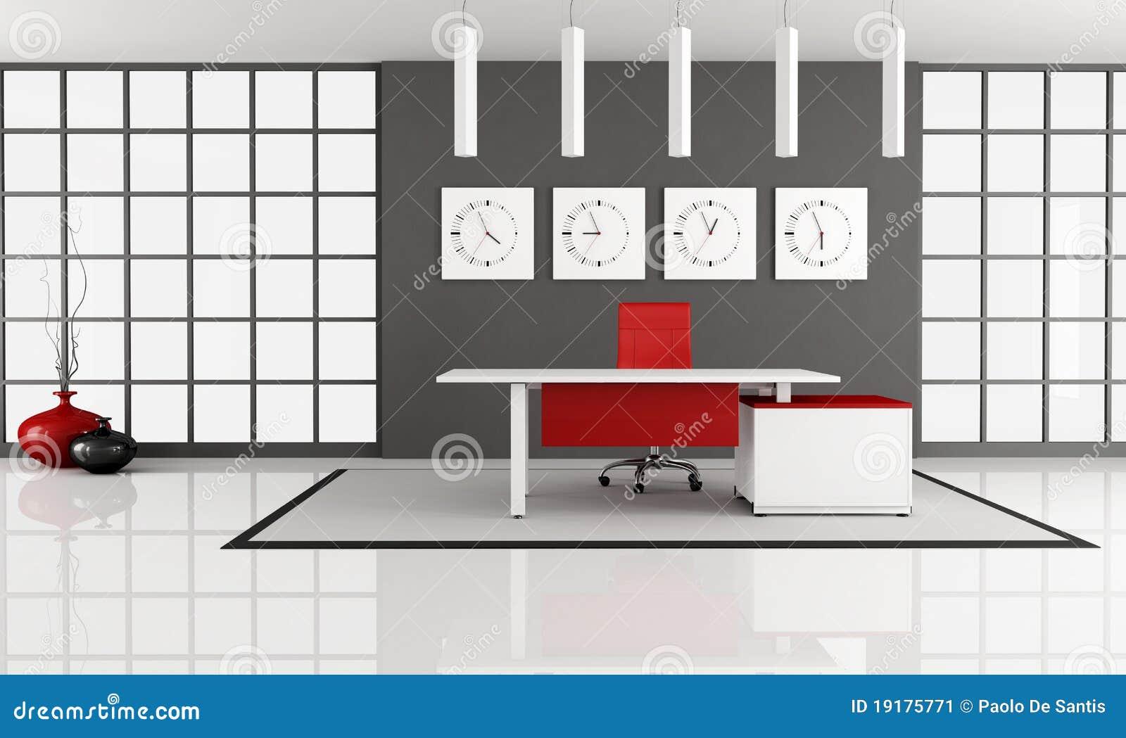 Spazio di ufficio minimalista illustrazione di stock for Mobilia spazio