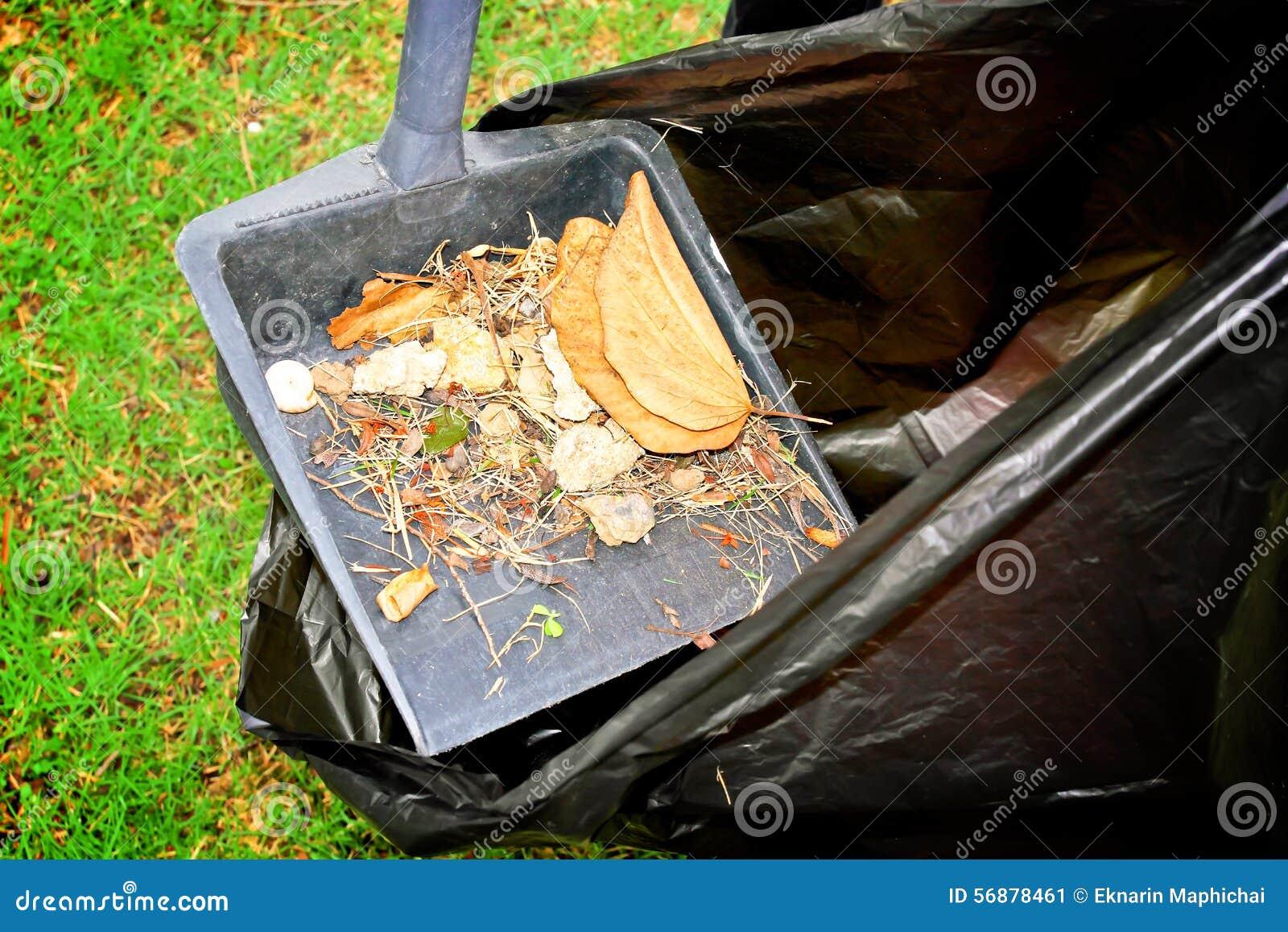 Spazzare e foglie