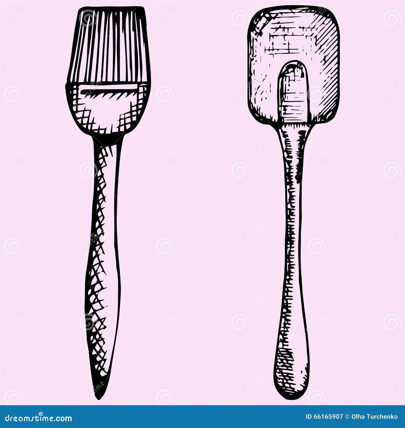 Spazzola del silicone per cuocere e la cottura e la spatola