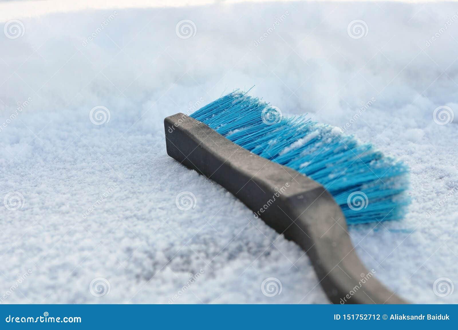 Spazzola di plastica blu per neve di pulizia Pulizia dell automobile nell inverno di neve