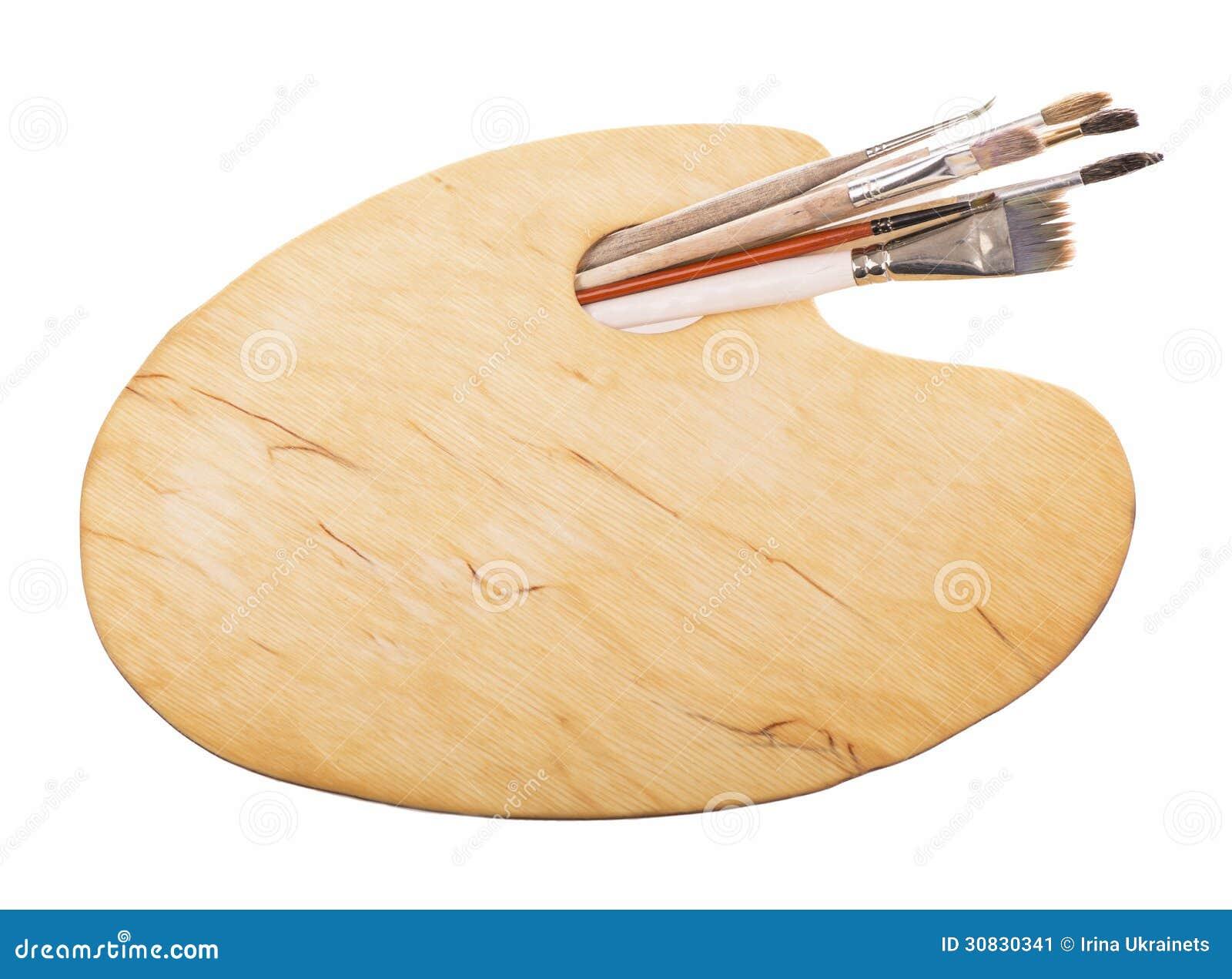 Spazzole e una tavolozza