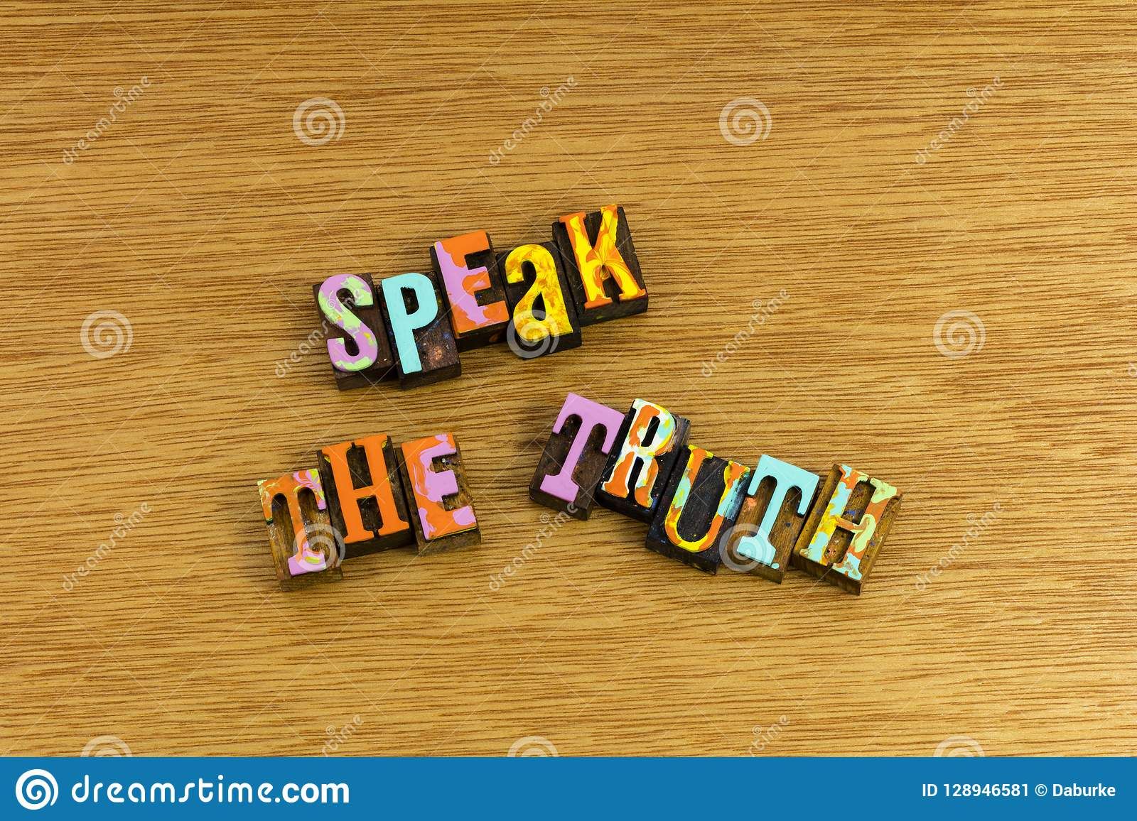 Speak truth honesty voice