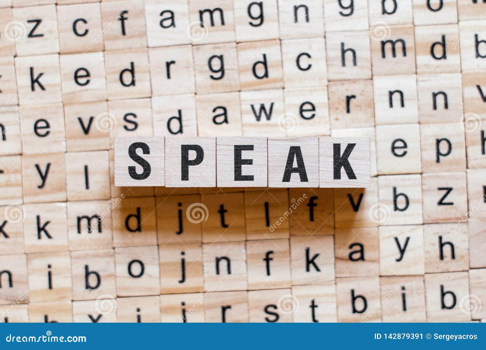 Speak word concept