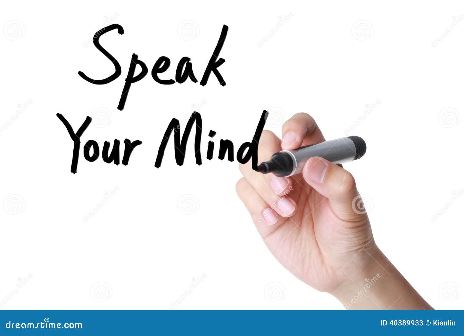 Speak Your Mind Stock Photo Image 40389933