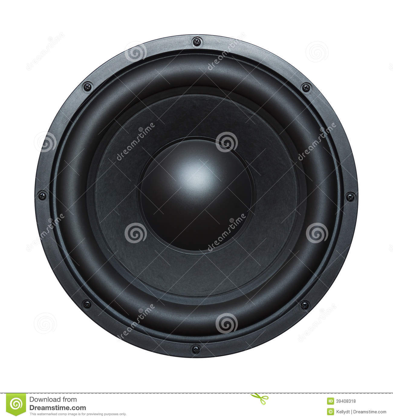 Speaker Bass Driver Stock Photo - Image: 39408318