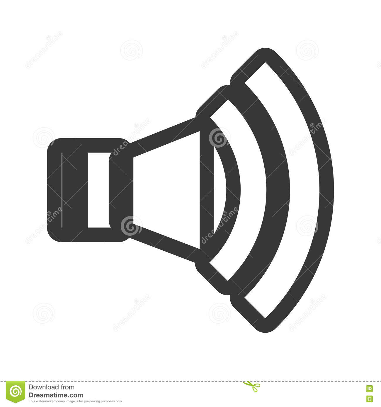 Speaker Classic Symbol Isolated Icon Stock Vector Illustration Of