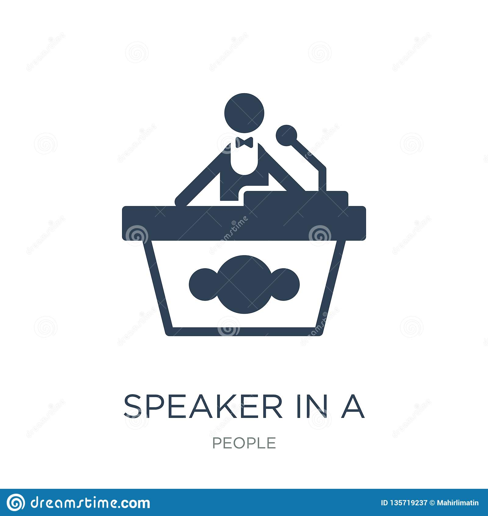 speaker in a conference icon in trendy design style. speaker in a conference icon isolated on white background. speaker in a