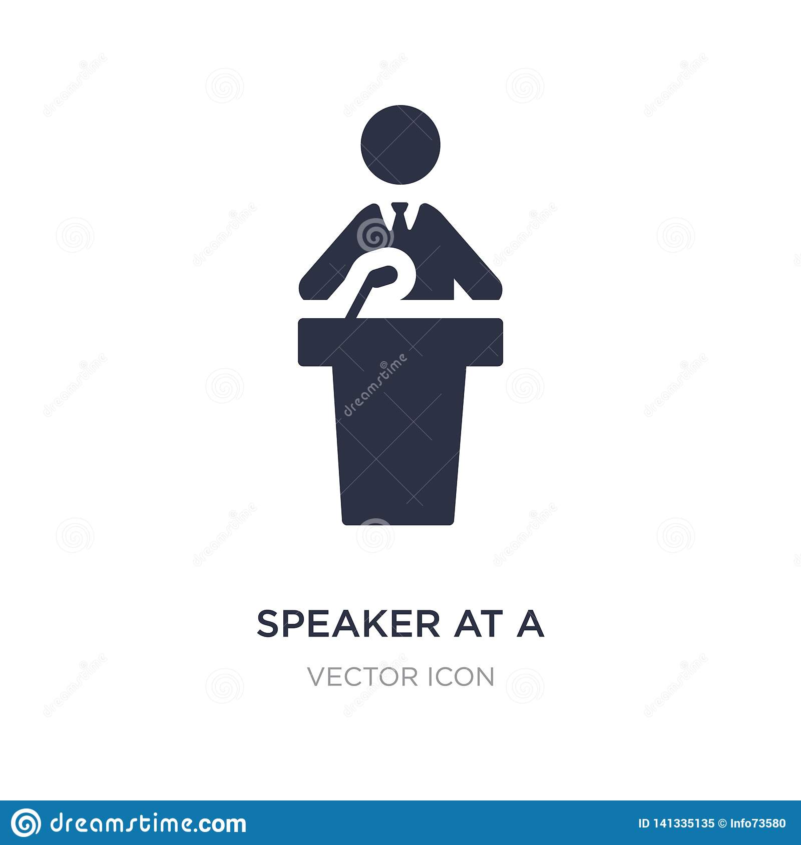 speaker at a conference icon on white background. Simple element illustration from People concept