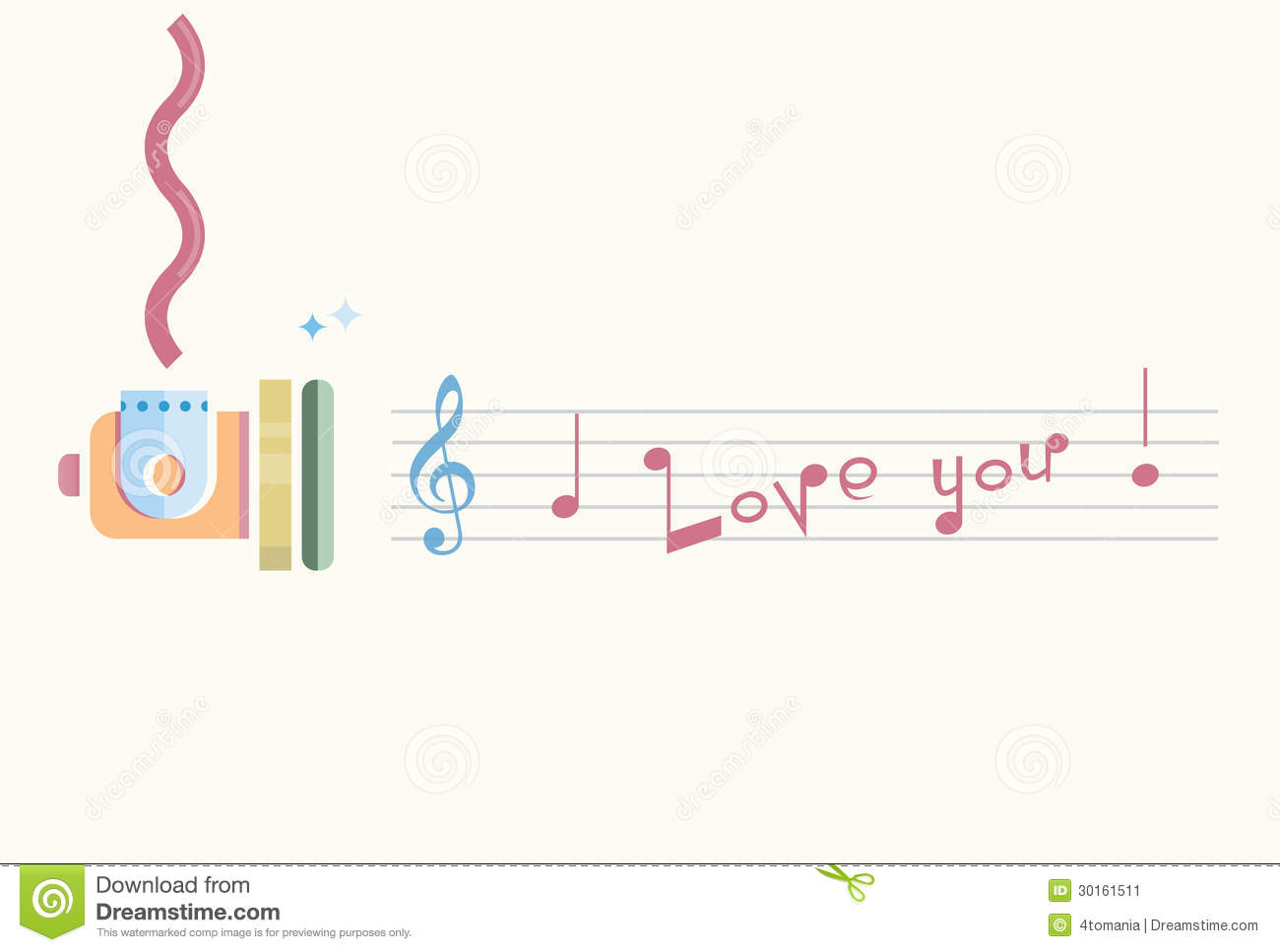 I Love You Notes Stock Image Image 30161511