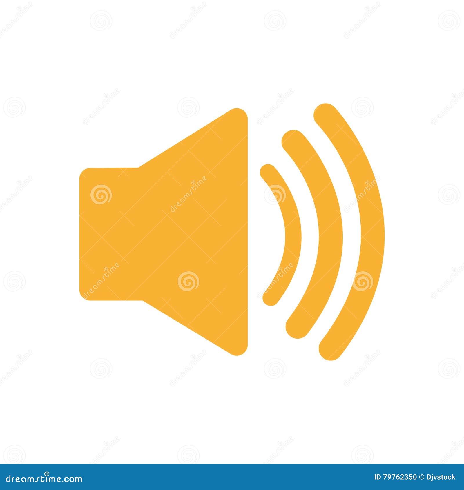 Speaker Sound Symbol Isolated Icon Stock Vector Illustration Of