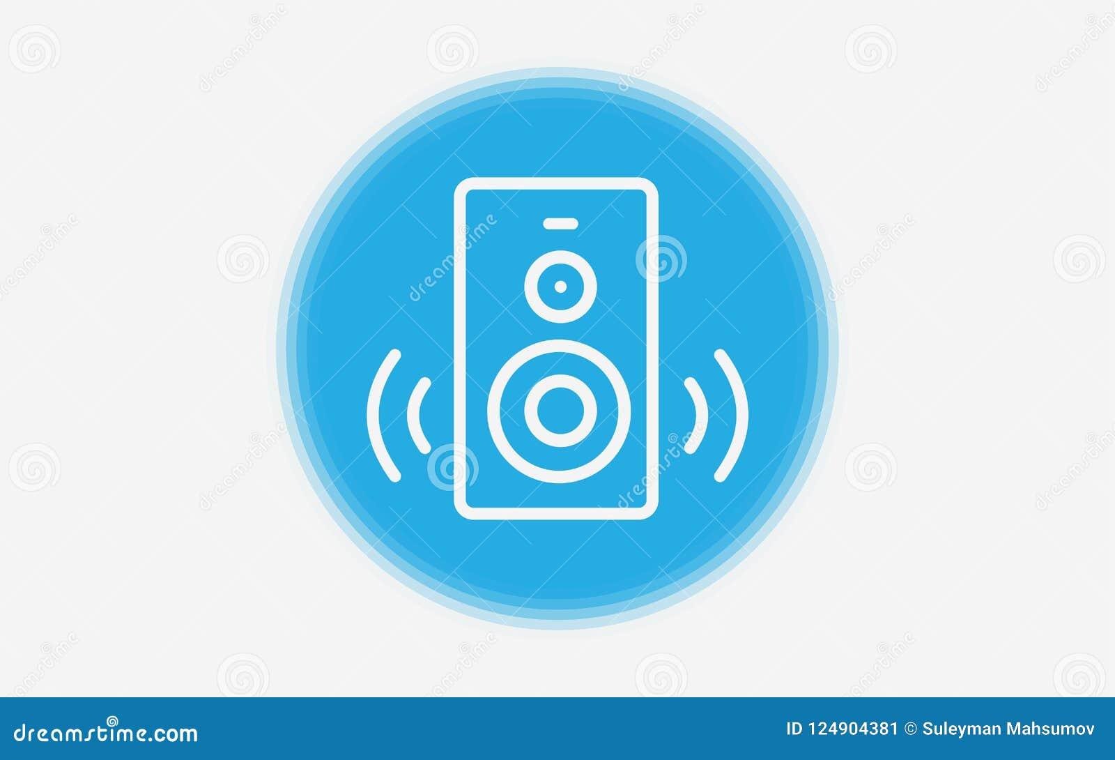 Speaker Vector Icon Sign Symbol Stock Vector Illustration Of Loud