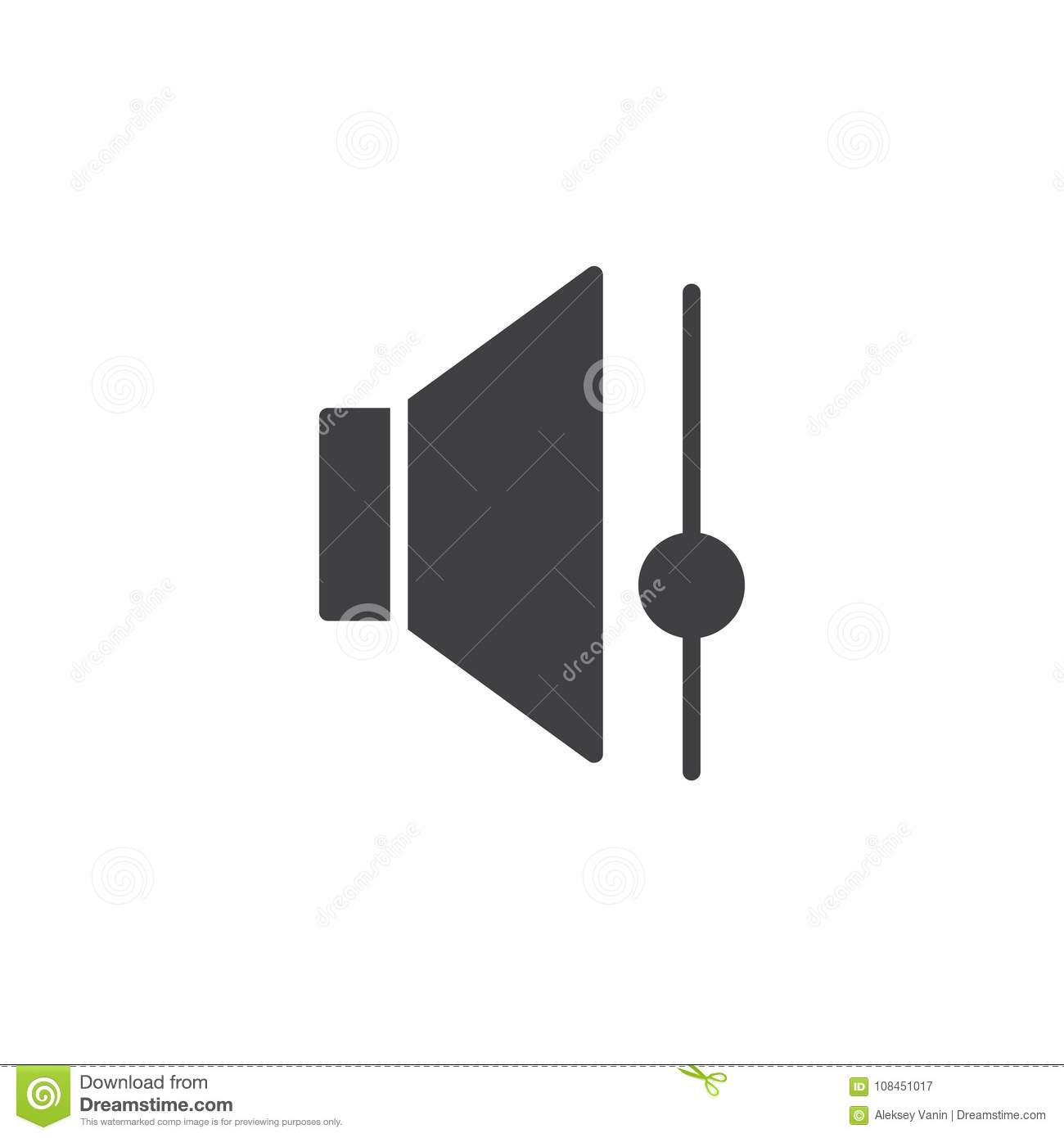 Speaker Volume Control Icon Vector Stock Illustration Of