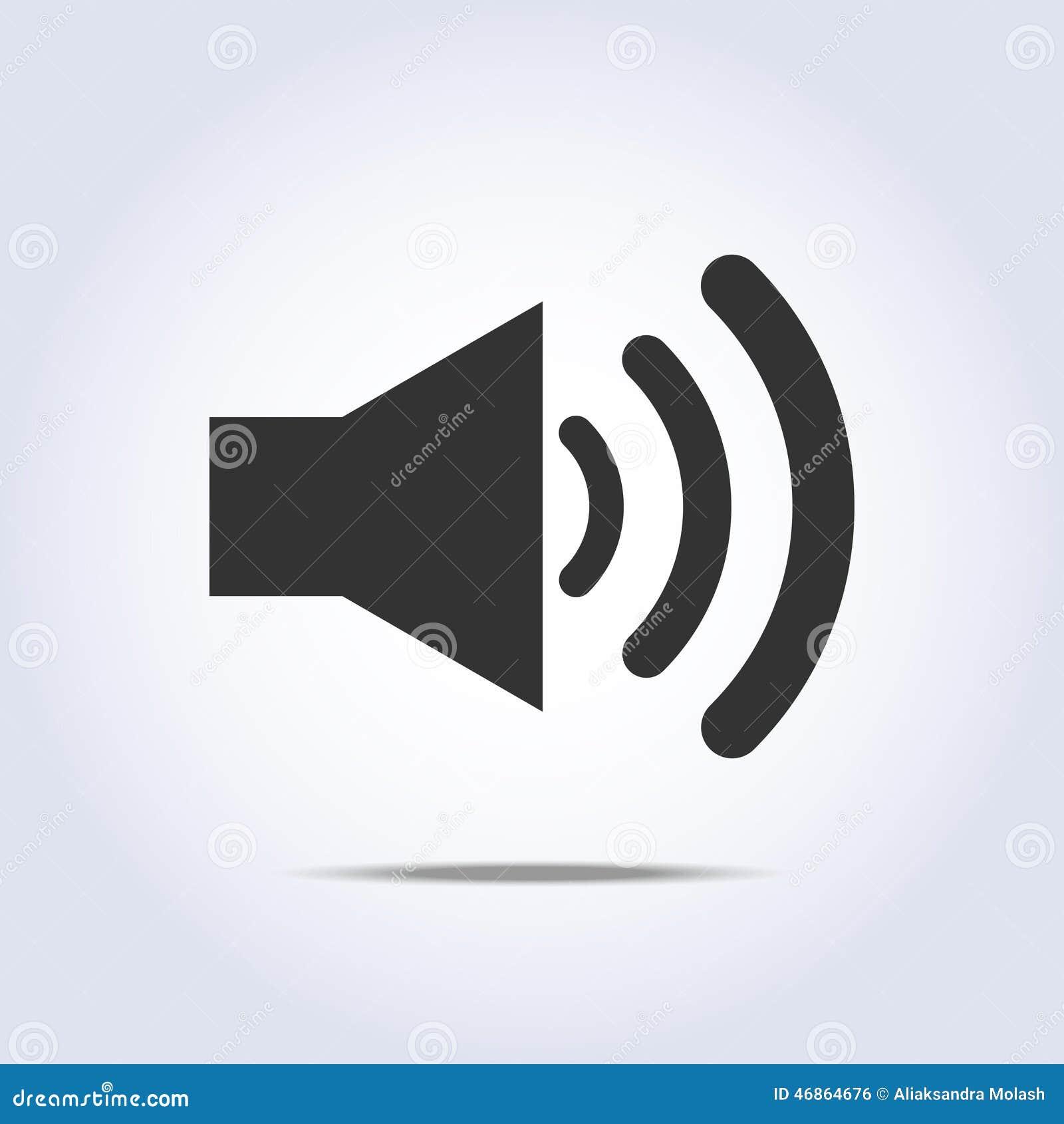 Speaker volume icon gray colors