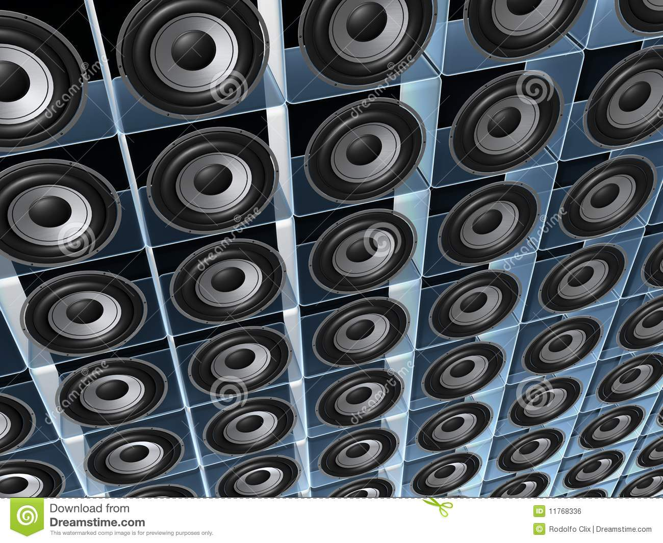 speaker wall royalty free stock image