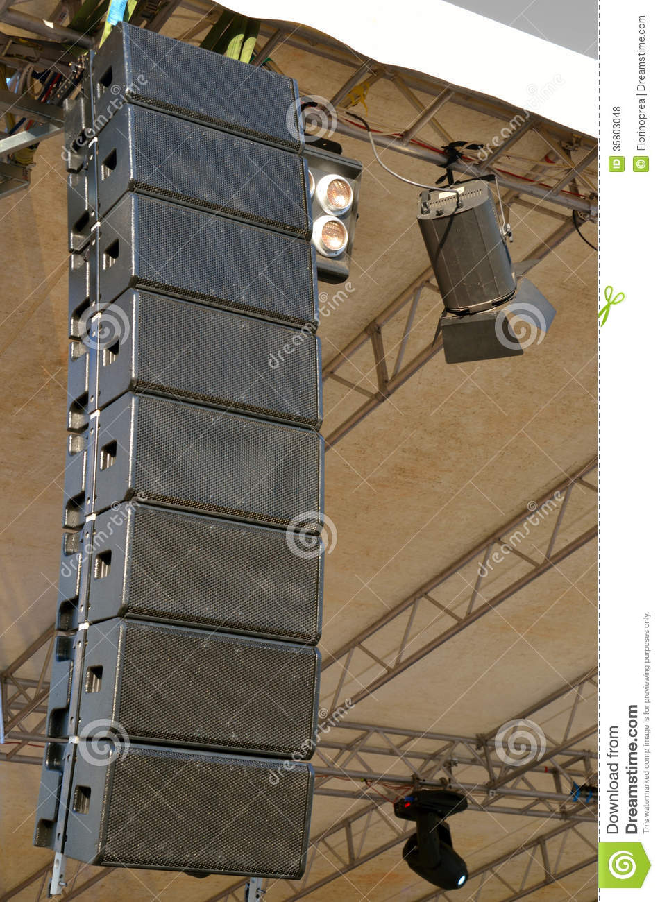 Speakers At Outdoors Concert Royalty Free Stock Photos