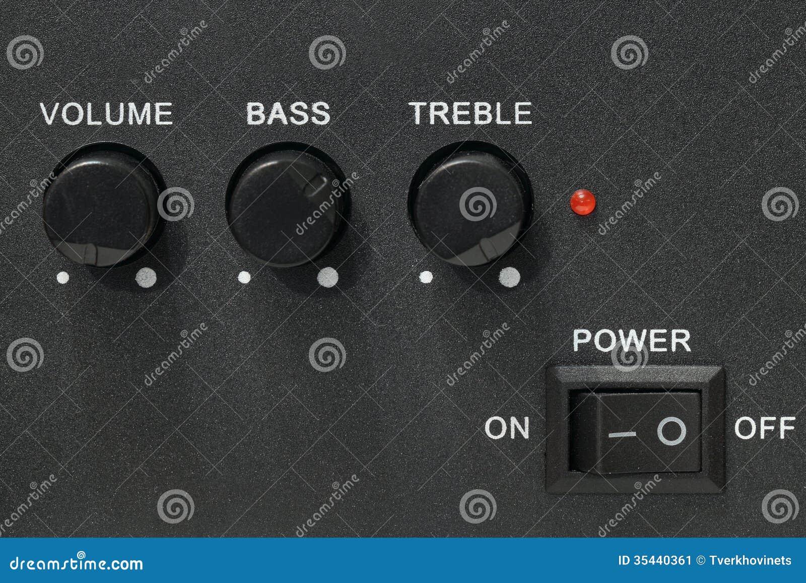 Volume Sound Control Panel : Speakers settings panel stock image