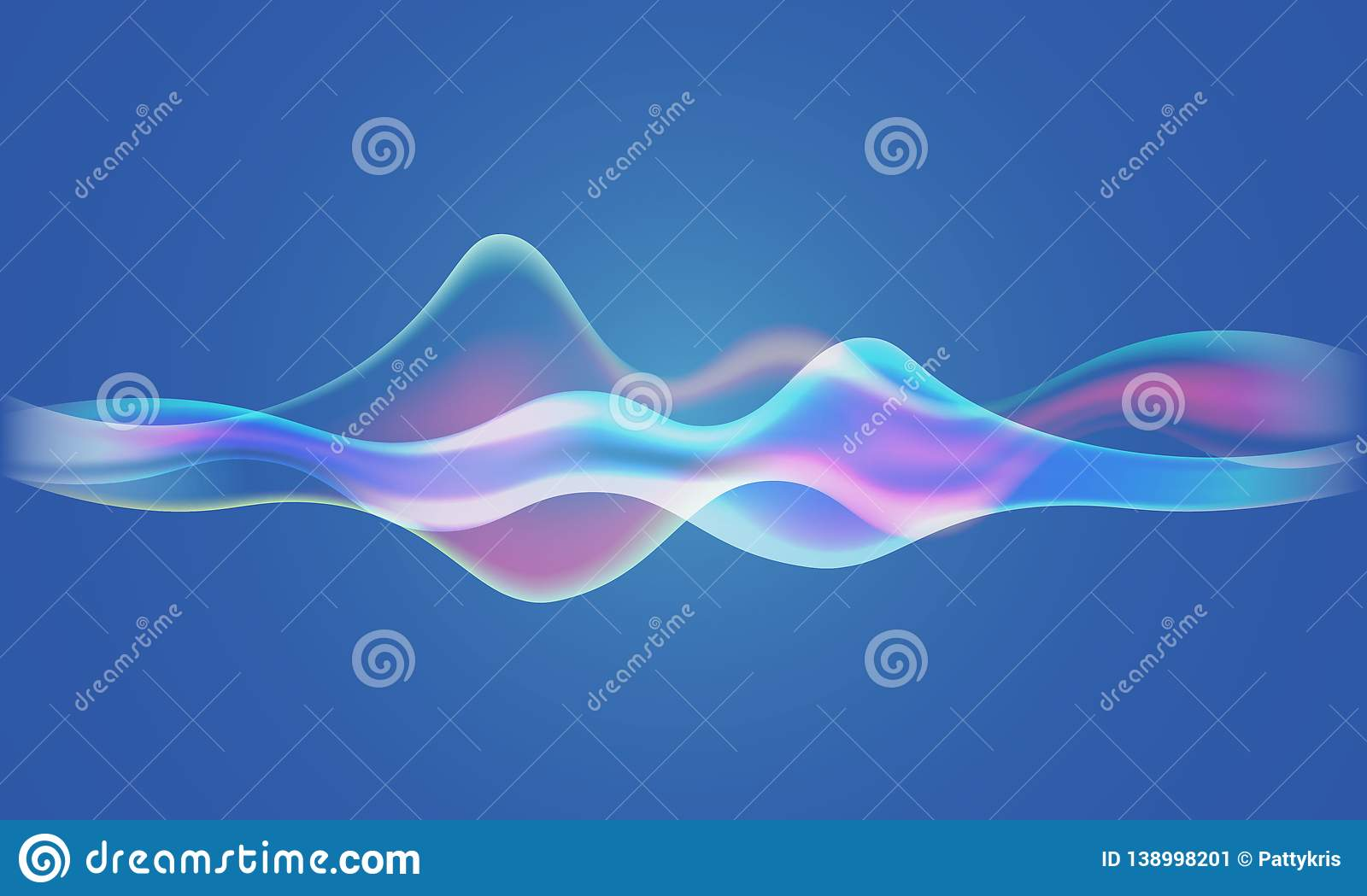 Speaking Sound Wave Illustration Vector Stock Vector
