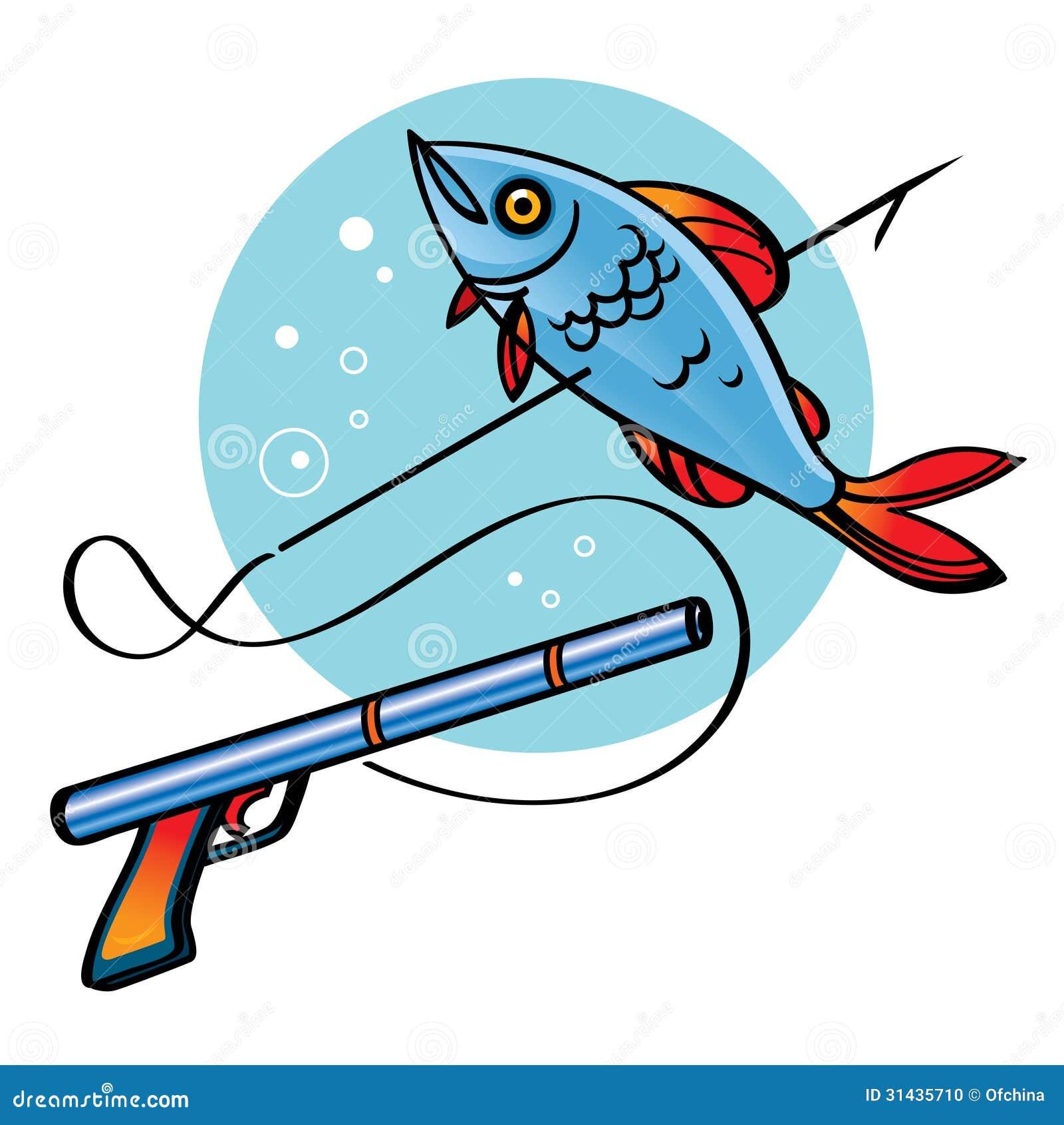 Spear Fishing stock vector. Illustration of reef, ocean ...