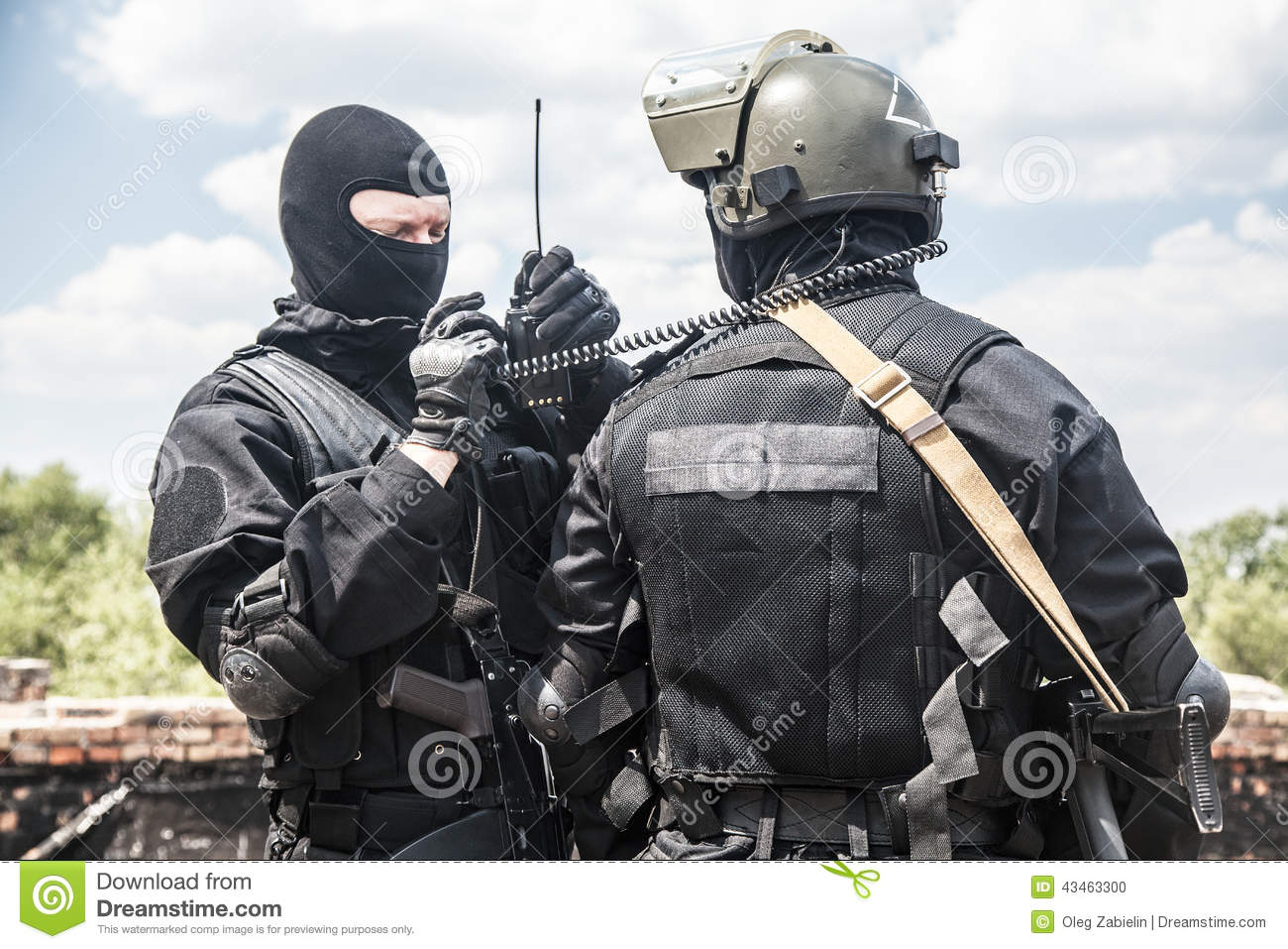 Spec ops soldiers stock photo  Image of swat, subdivision