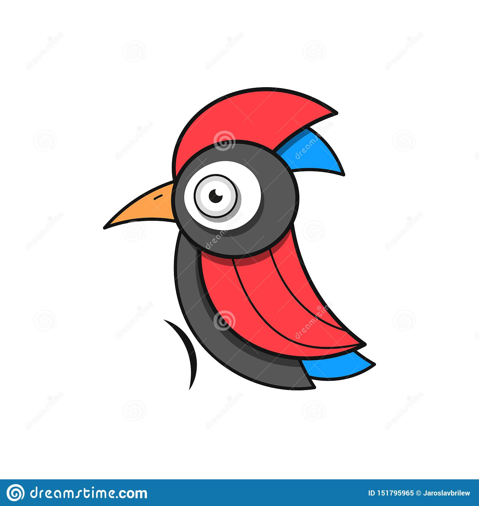 Specht Bird Animal Abstract Vector Template Zoo Wildlife Business Icon Nature Company