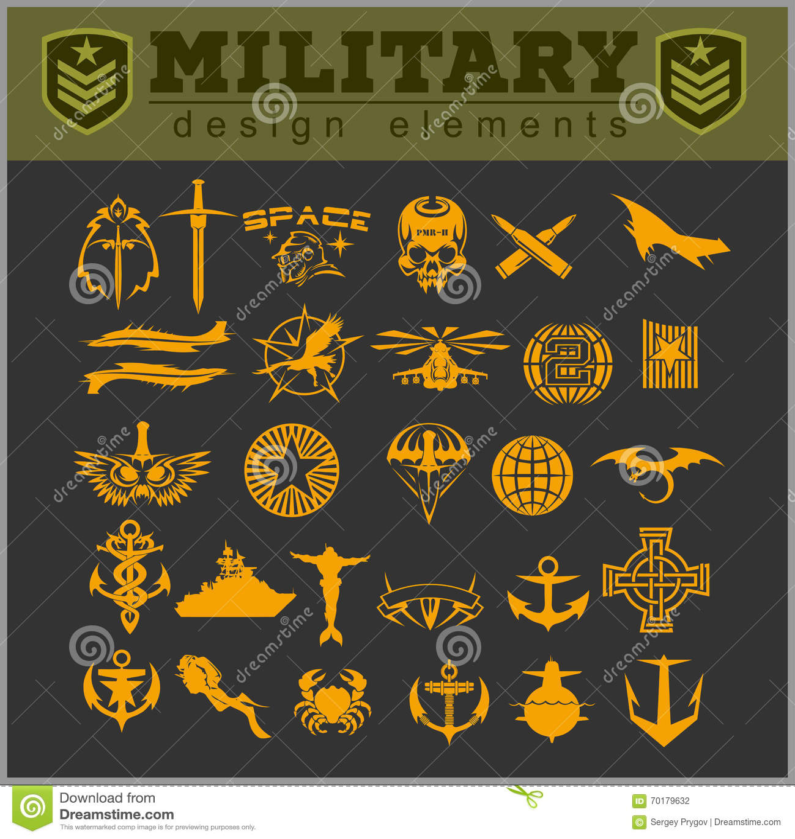 Speciaal eenheids militair flard