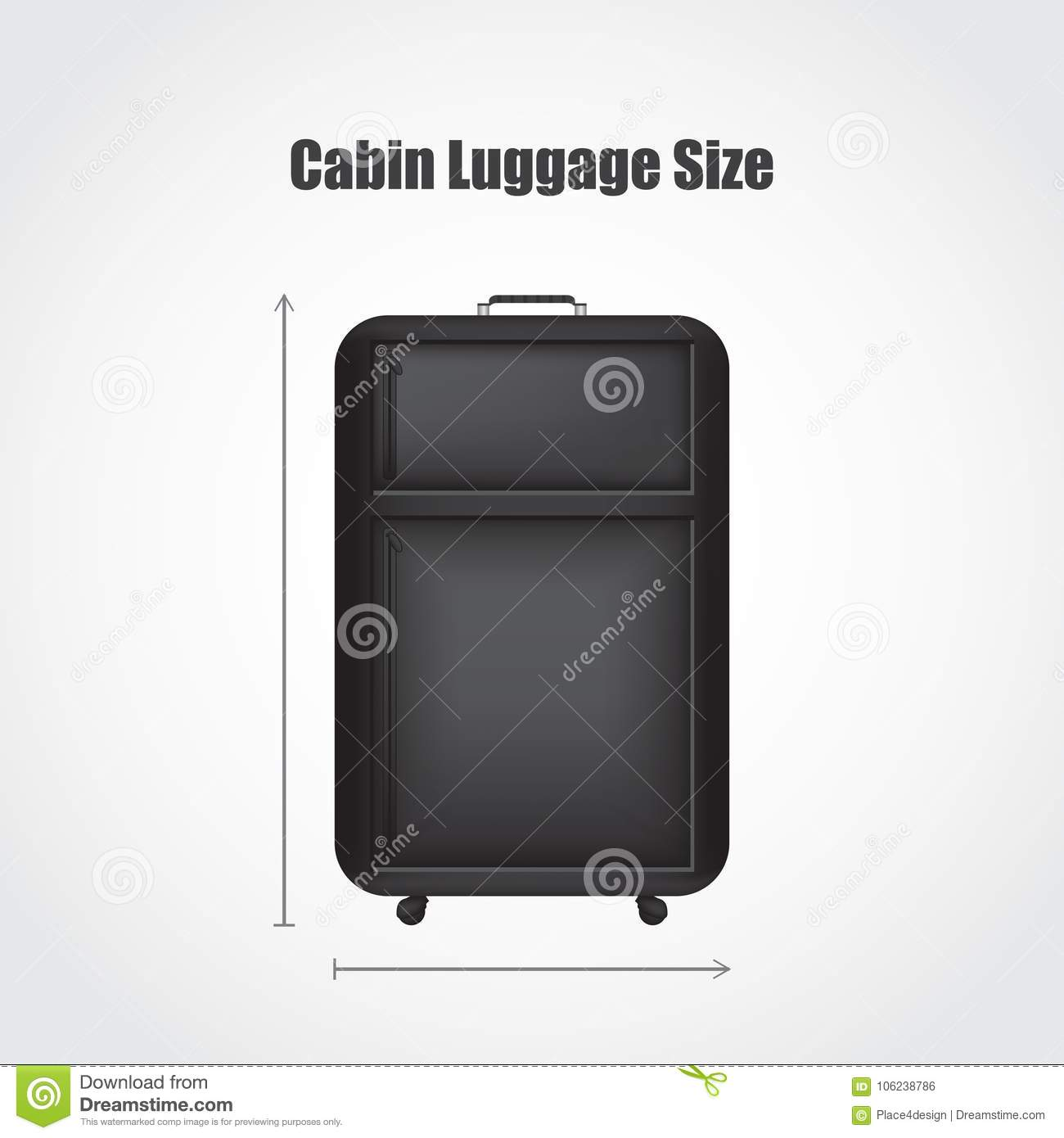 Special black travel luggage