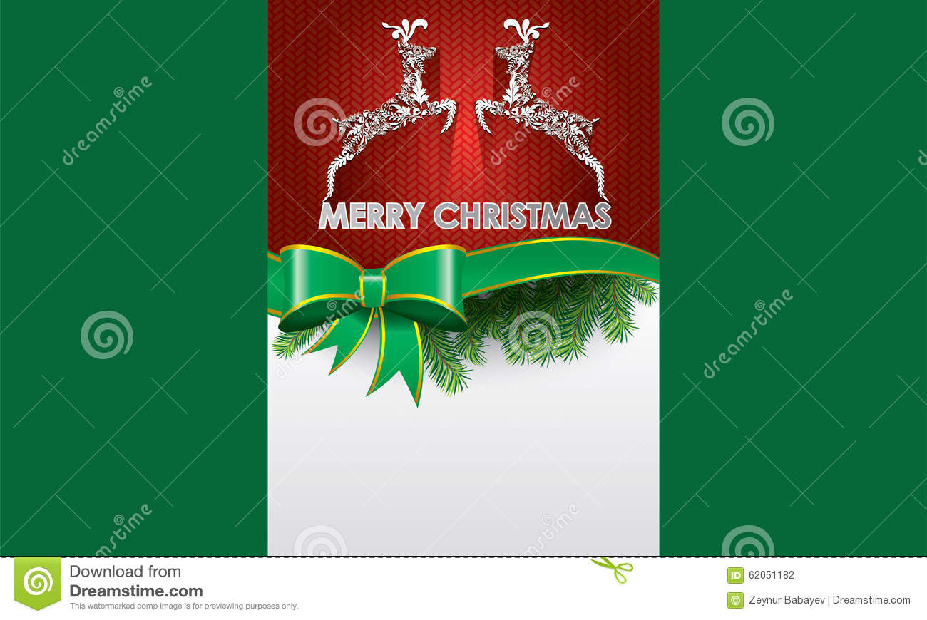 special christmas brochure design stock vector