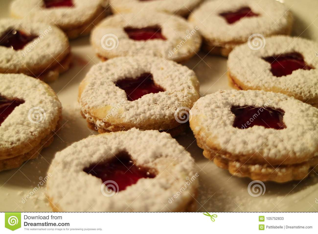 Close Up Of Christmas Cookies Stock Image Image Of Cookie Cooking