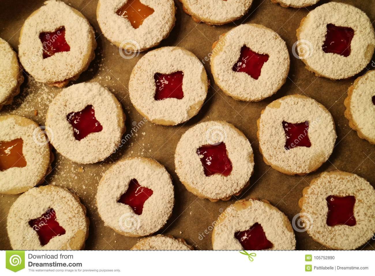 Close Up Of Christmas Cookies Stock Photo Image Of Baking Dough