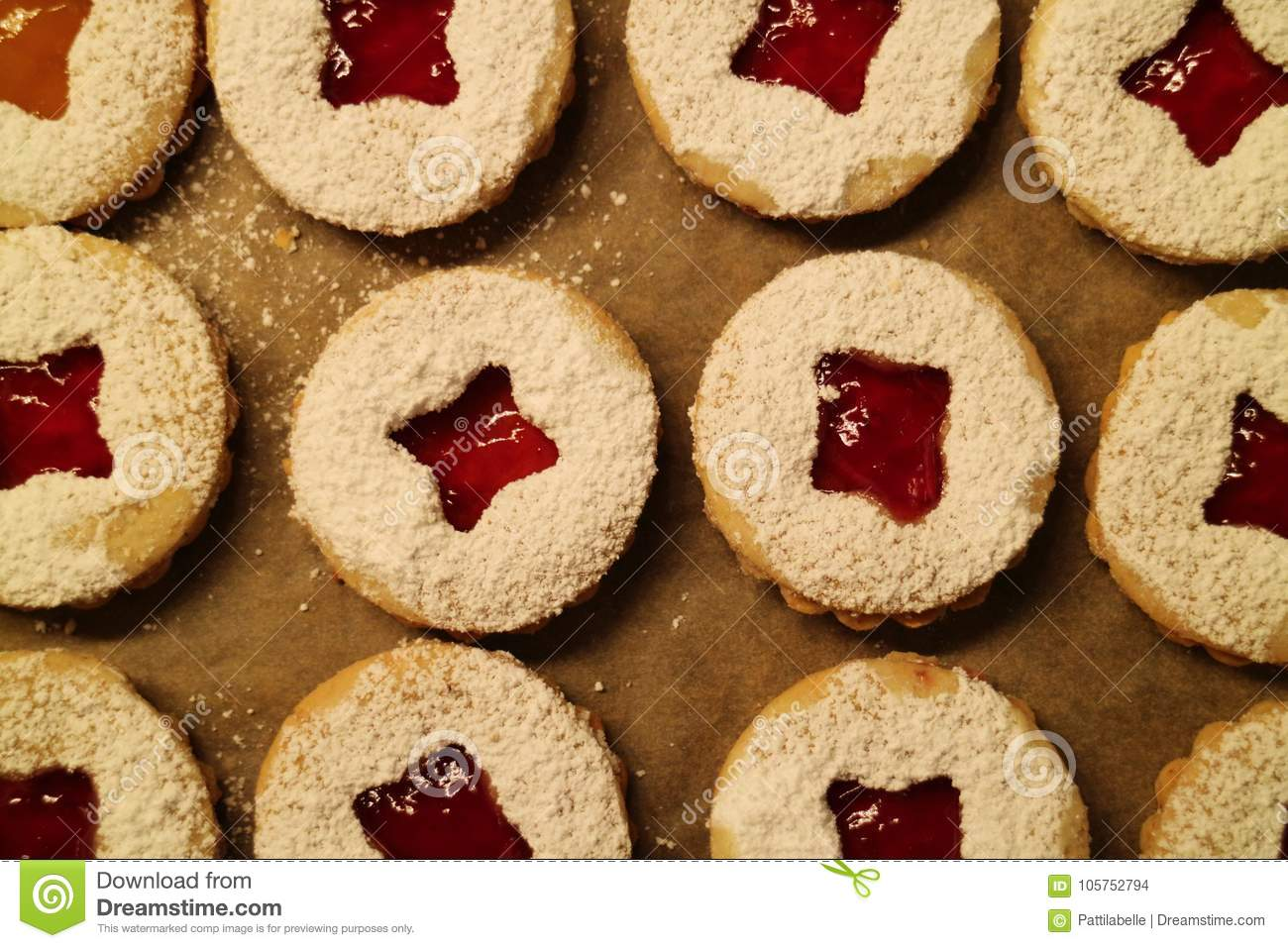 Close Up Of Christmas Cookies Stock Photo Image Of Dough