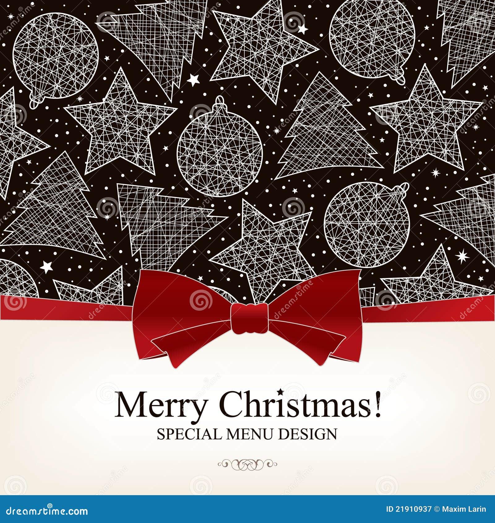 special christmas menu design stock vector illustration of