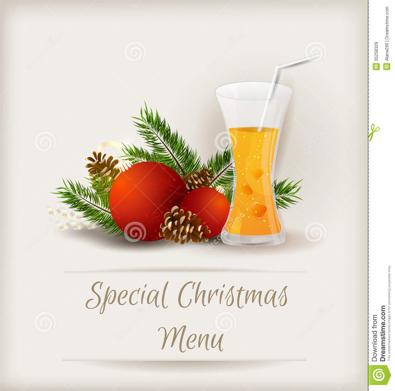 special christmas menu template royalty stock images image special christmas menu template