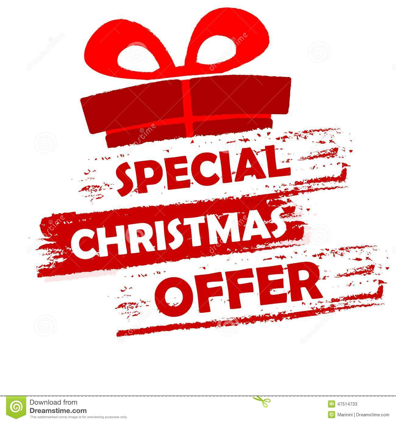 Offer: Special Christmas Offer Stock Illustration. Image Of Gift