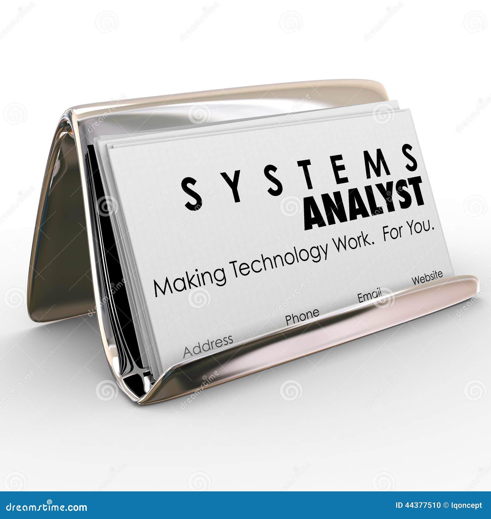 Special d informatique de Business Card Holder d analyste fonctionnel