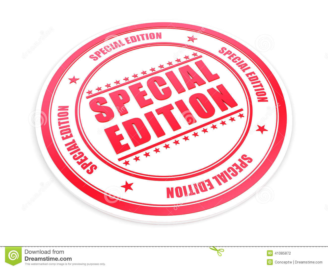 Special Edition Stock Illustration - Image: 41085872