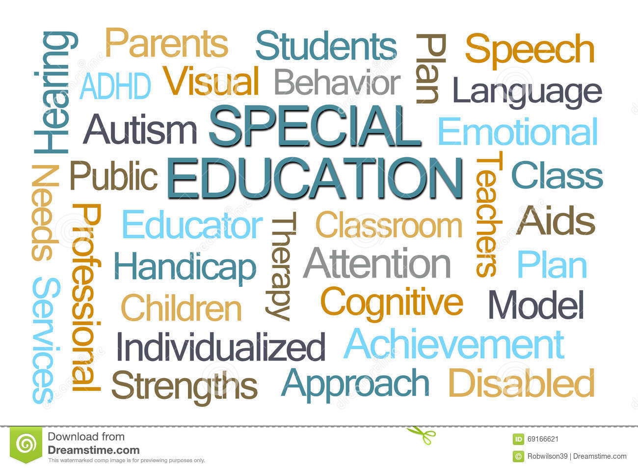 How Language Of Special Education Is >> Special Education Word Cloud Stock Illustration Illustration Of