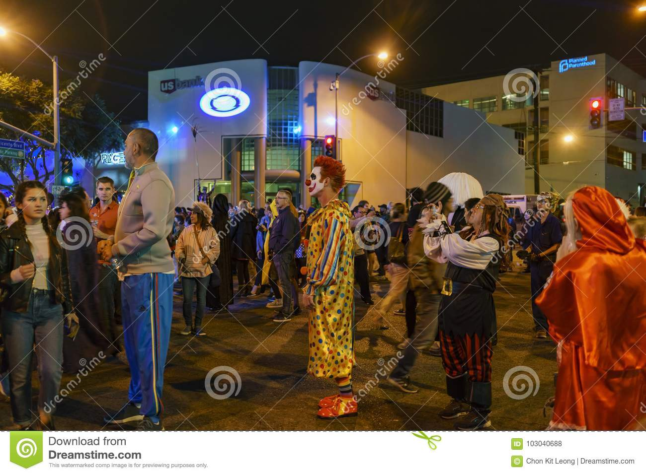 special event - west hollywood halloween carnaval editorial stock